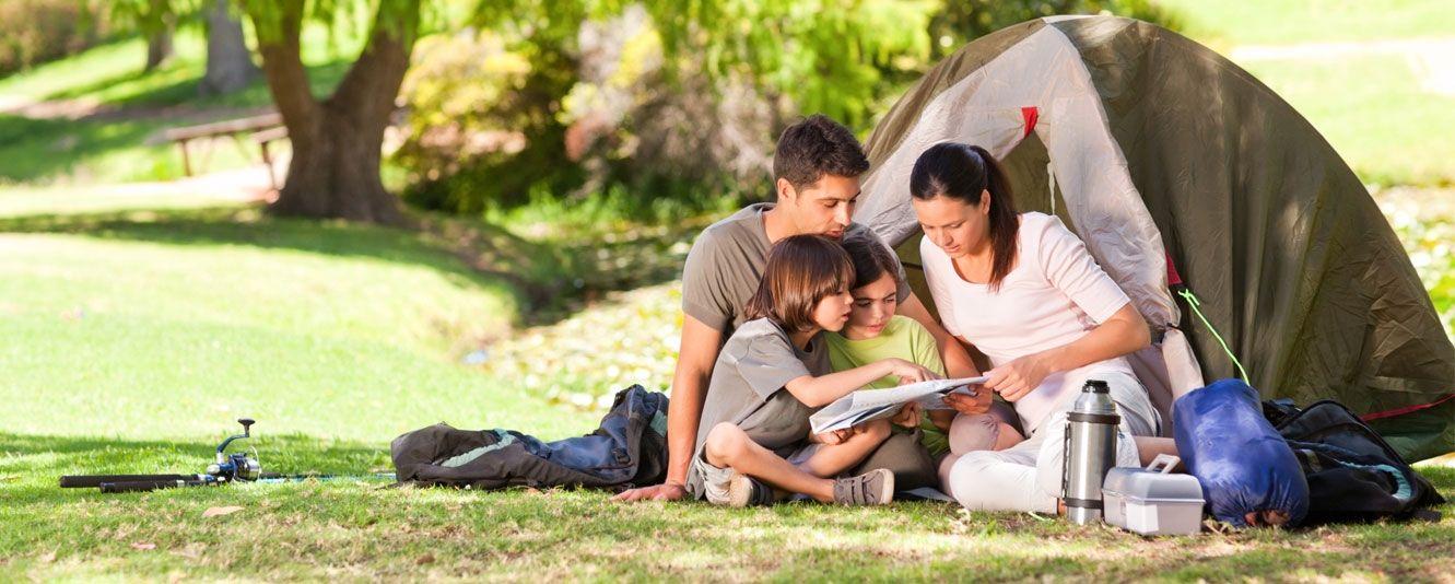Bambini in Camping
